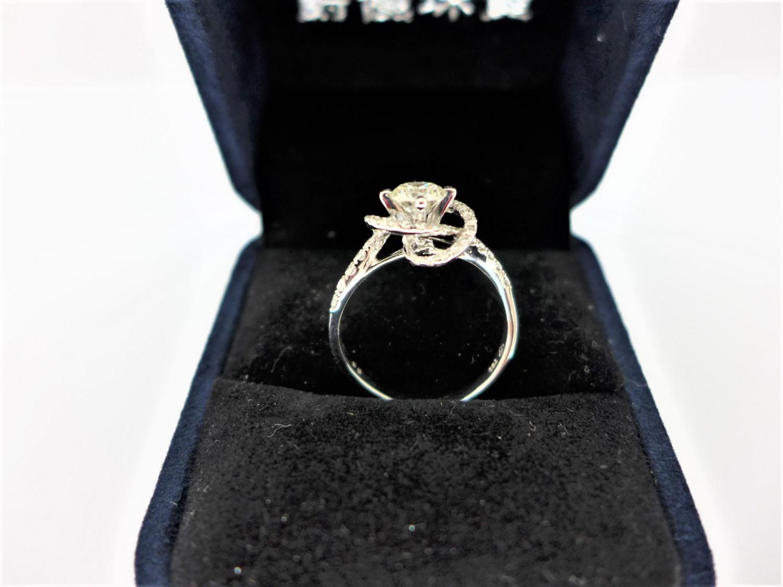 天然鑽石戒指 0.56ct F/VVS1/車工完美 18K 配鑽42P共0.34ct F0052-02