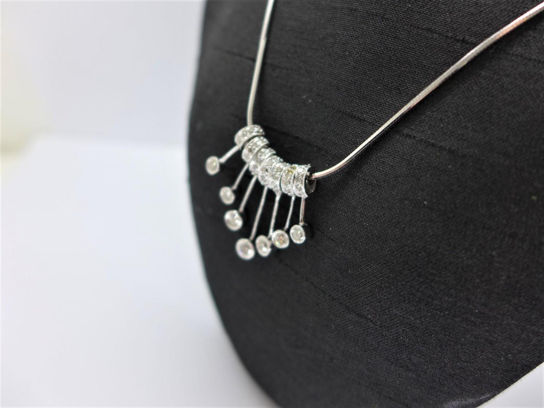 天然鑽石項鍊 7P共40分 18K F0140-03