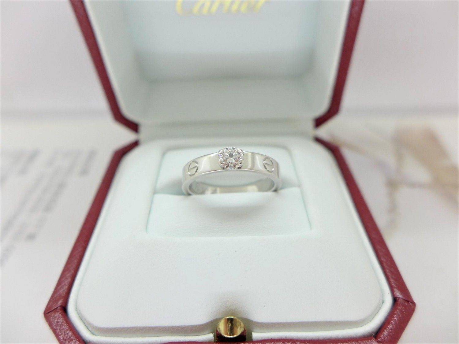 Cartier 卡地亞 solitaire love 0.24ct F/IF/3EX 49號 m1447