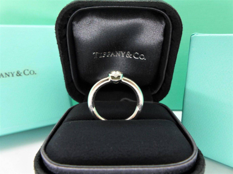 Tiffany&Co.蒂芬妮 鑽石戒指 0.2ct D/VS1/2EX PT950 n0178-02