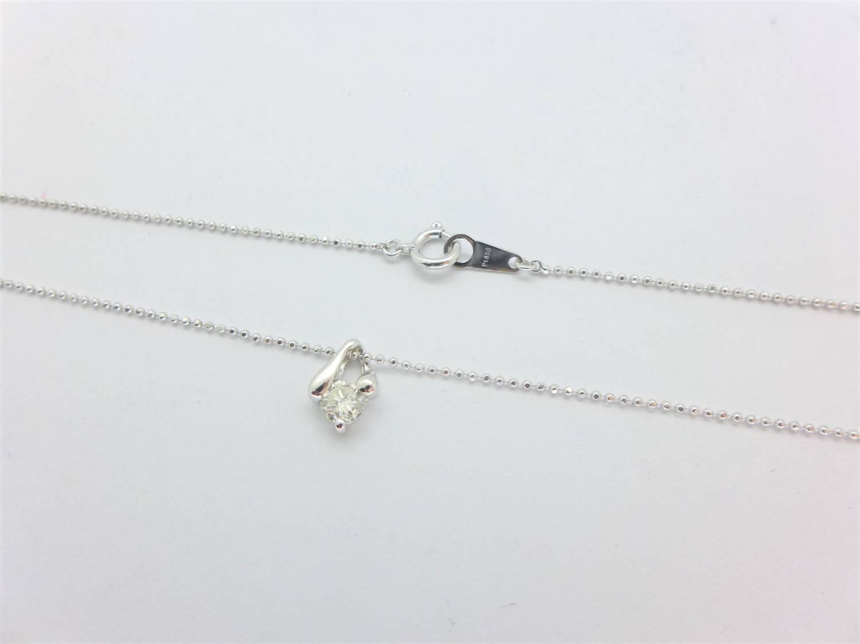 天然鑽石項鍊 0.37ct F/SI1/車工完美 鉑金 PT900墜 n0573-02