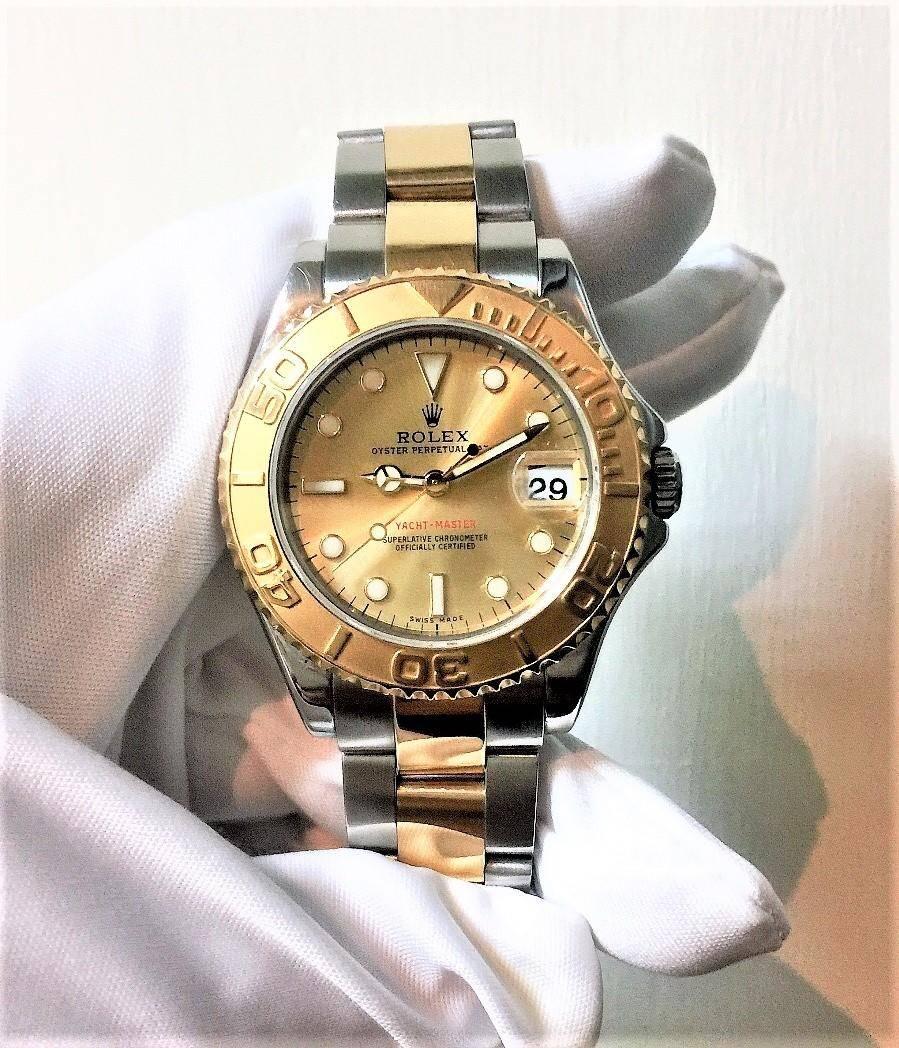ROLEX 勞力士 168623 蠔式遊艇名仕 金色面盤 35mm n0723