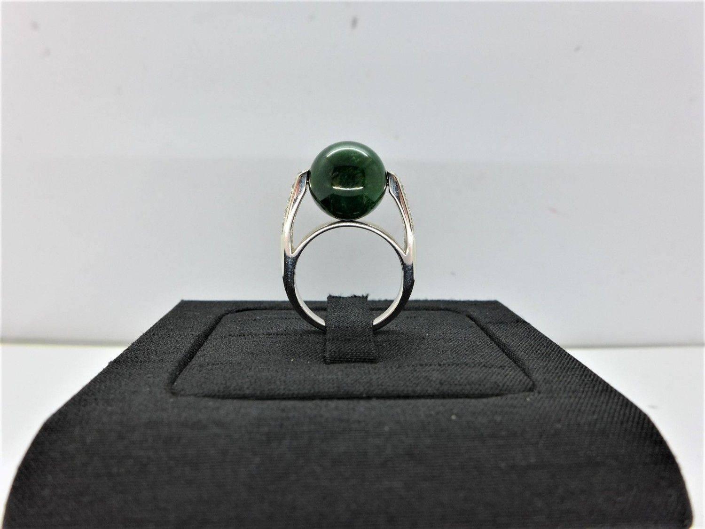 緬甸天然翡翠鑽石戒指 A貨 10.5*10.5mm 配鑽0.12ct 18K戒台 m1160