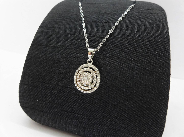 天然鑽石項鍊 47P共 0.5ct 925銀墜台/925銀義大利鍊 F9926-02