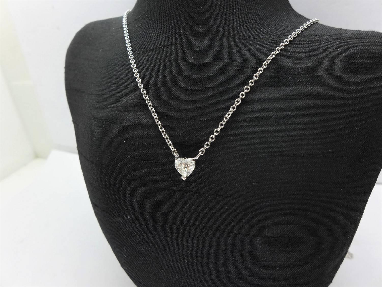 GIA天然鑽石項鍊 0.91ct I/VS2/EX花式心型車工 18K墜 全新手工訂製款 n0157-01