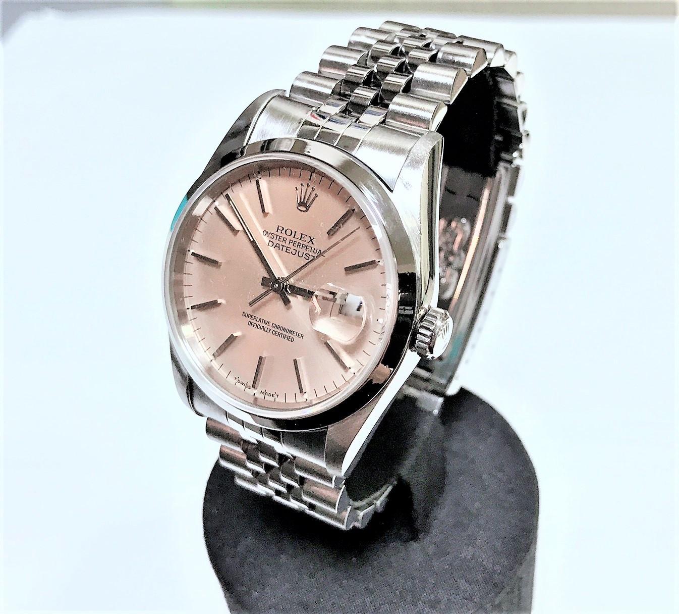 ROLEX 勞力士 DATEJUST 16200 蠔式不鏽鋼自動腕錶 36mm n0771