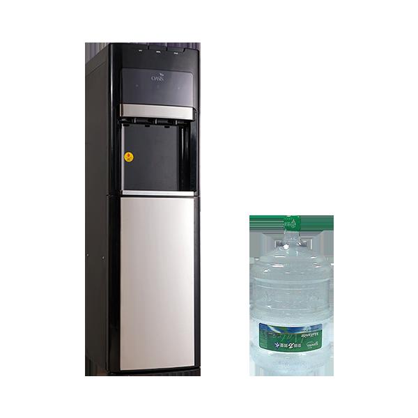 OASIS下置式雙用飲水機+15桶麥飯石質量水