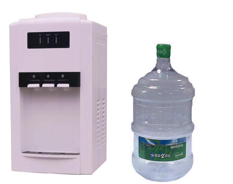 OASIS桌上型冰溫熱飲水機+20桶麥飯石質量水