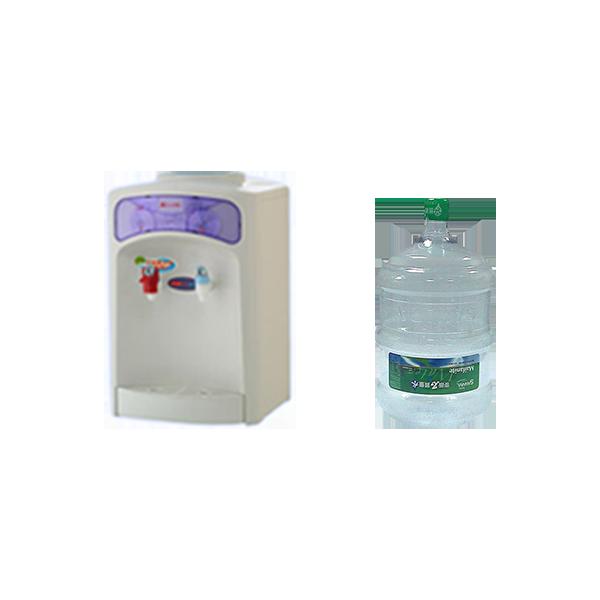 元山桌上型溫熱飲水機+20桶麥飯石質量水