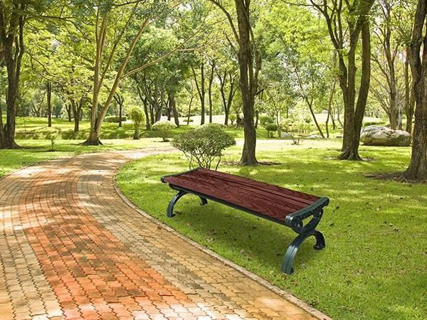 SJ-089PP (木紋) 無靠背塑木休閒椅